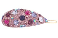 The SWAROVSKI CRYSTAL hair clamp measures 2.5 inches wide and 1.0 inch high. O24