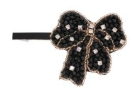 This gorgeous medium size barrette is about 4 inches wide by 2.5 inches high. The clasp on the back is about 3.0 inches long. P9