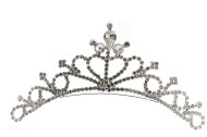bridal (wedding) Tiara Comb with Swarovski Crystals measures about 4.75 inches long by 2.0 inches high. The comb with 17 teeth is about 1.25 inches long.
