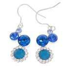 This set of earrings with SWAROVSKI crystal are about 1.7 inches high.