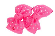 This set of pins measure approximately 2.75 inches long. The bow is about 2.75 inches by 2.0 inches.