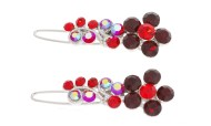 This set of small hair pins with CRYSTAL and measure 1.6 inches wide and 0.5 inches high. O28