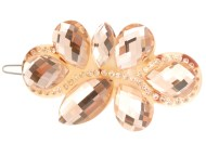 The CRYSTAL hair clamp measures about 3.0 inches wide and 1.5 inch high. O17