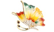 This butterfly hair clamp with crystal measures 1.75 inches wide and 1.025 inches high. O22