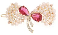 This small SWAROVSKI CRYSTAL hair clamp measures 2.5 inches wide and 1.5 inch high. O24